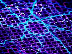 stock photo of nanotechnology  - Nanotechnology with microlenses computer generated abstract background - JPG