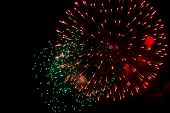 picture of salute  - Fireworks salute in honor of 70th anniversary of Victory Day in Moscow - JPG