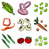 foto of green bean  - Nine images of different foods  - JPG