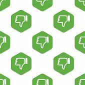 picture of dislike  - Vector dislike symbol in hexagon - JPG