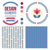pic of scandinavian  - Set of design elements  - JPG