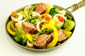 foto of fried onion  - Meat with vegetables  - JPG