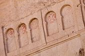 stock photo of goreme  - Detail of crosses from remains of Goreme church in Cappadocia Turkey - JPG