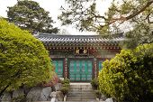 picture of nu  - Bongeunsa Temple is a well know temple in Gannam South Korea - JPG