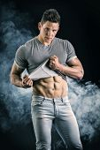 stock photo of abs  - Handsome - JPG