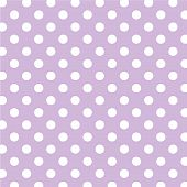 Pastel Lavender, Big White Polka Dots