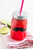 image of refreshing  - Delicious and refreshing watermelon and lime drink - JPG