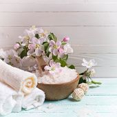 foto of salt-bowl  - Spa or wellness setting - JPG