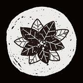 picture of poinsettias  - Poinsettia Doodle - JPG