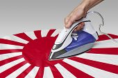 foto of iron star  - Steam iron for smooth out the wrinkles of Flag from Japan - JPG