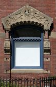 Blank Window On Brick Building