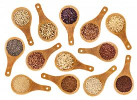 image of seed  - a variety of gluten free grains  - JPG