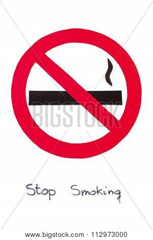 Red Round No Smoking Sign Stop Tobacco Save Your Life Poster Id