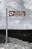 Poulnabrone Dolmen Portal Tomb Sign
