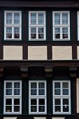 Quedlinburg old town homes windows