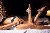 Couple having sex in bedroom poster