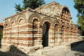 Ruins Of Church Of The Holy Archangels Michael And Gabriel, Nesebar, Bulgaria
