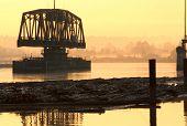 Fraser River Rail Trestle Dawn
