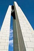 stock photo of deed  - Elevated limestone tower with bells - JPG