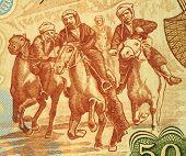 AFGHANISTAN - CIRCA 1979: Horsemen Competing At Buzkashi