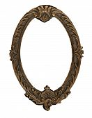 foto of art nouveau  - this vintage antique oval metal frame is great for retro themes - JPG