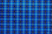 Vintage Blue Plaid Pattern