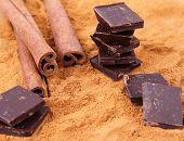 Chocolate and cinnamon