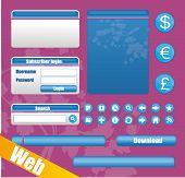 Vektor-Website-Elemente