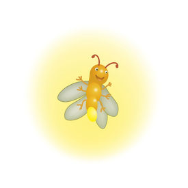 picture of lightning bugs  - Cute Firefly Illustration Lithning in the Summer - JPG