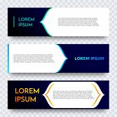 Abstract Geometric Web Banner Vector Gradient Template poster