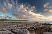 Burren at sunset