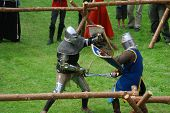 Medieval Footed Knights, Fighting poster