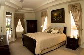 picture of armoire  - Staged bedroom during day - JPG