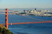 San Francisco over bridge