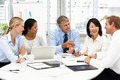 stock photo of meeting  - Business meeting in an office - JPG