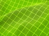 Pleated Checkered Fabric Closeup - Series - Deep Green. Christmas. Good For Background.