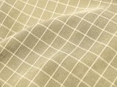 Pleated Checkered Fabric Closeup - Series - Ivory, Beige. Christmas. Good For Background.