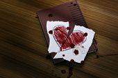 Broken Heart Drawn On A Paper