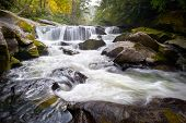 Wild Chattooga River Headwaters geologia ocidental Nc fluindo Cachoeira natureza