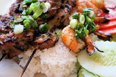 Vietnamese Grilled Shrimp, Beef, And Chicken.