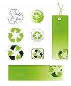 Recycle Icons And Label