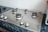 Polished Gas Cooker After Washing.perfectly Clean Gas Cooker After Being Washed With Polishing Chemi poster