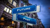 Street Sign The Direction Way To Future Versus Past poster