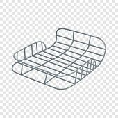 Bike Luggage Carrier Icon. Isometric Illustration Of Bike Luggage Carrier Vector Icon For Web Design poster