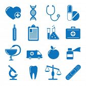 Vector illustration icons on medicine