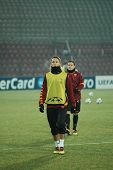 CLUJ, ROMANIA - DECEMBER 7: Soccer player and legend of AS Roma, Philippe Mexes at the official trai