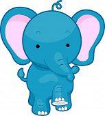 pic of stomp  - Illustration of a Walking Elephant - JPG