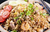Fried Rice with chicken and Shrimps