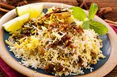 Biryani with lime pieces