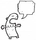 Primitive Stammesangehörige cartoon